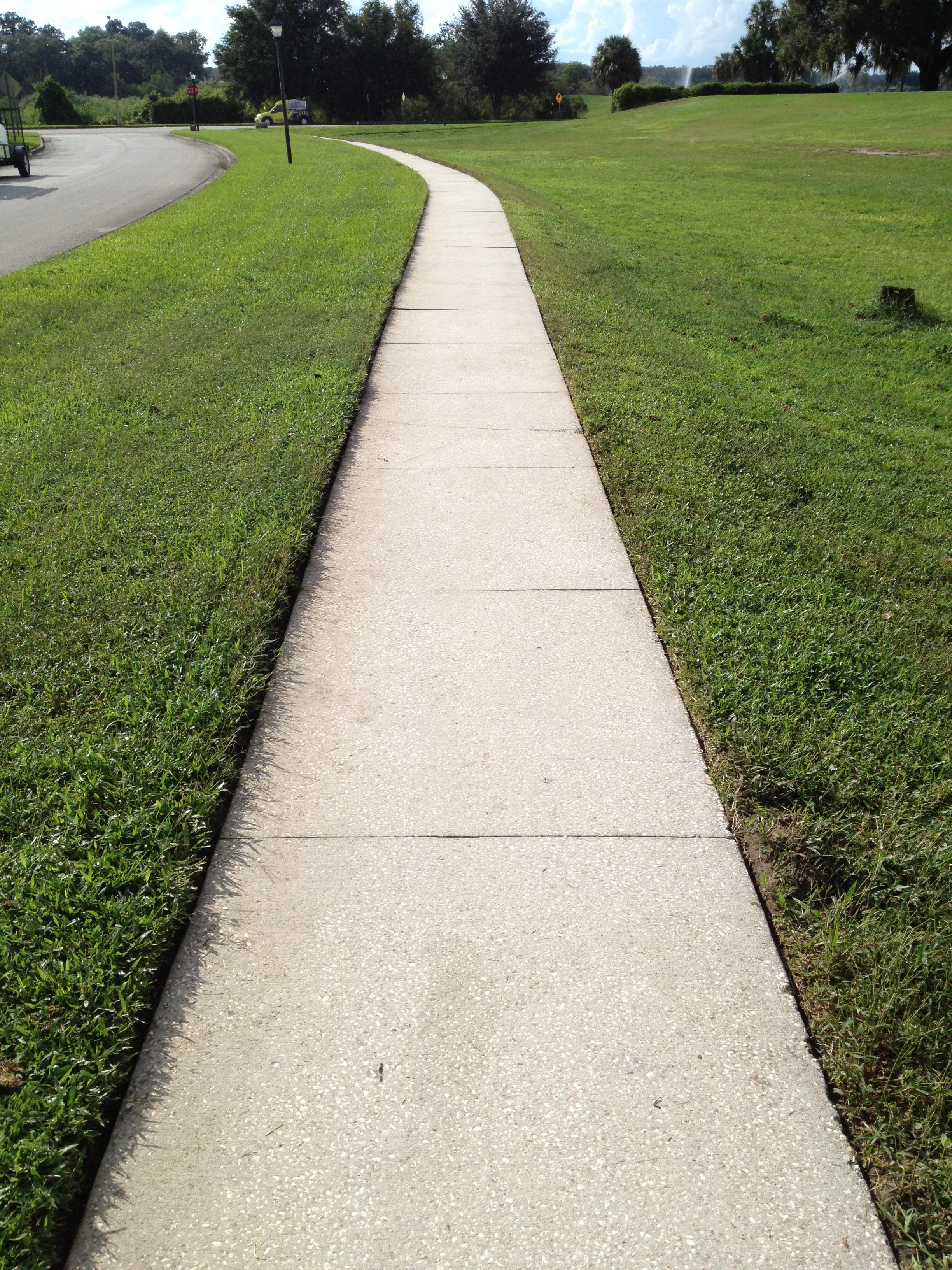 Sidewalk After Pressure Wash