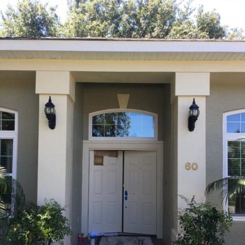 Front Door Before Repaint