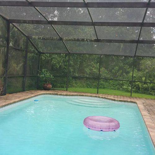 Pool Deck Before Pressure Wash